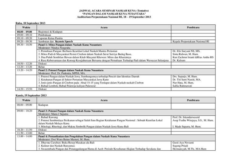 jadwal seminar
