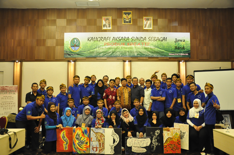 Sosialisasi Kaligrafi Aksara Sunda, Disparbud Jawa Barat