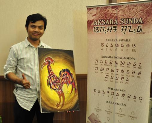 Membuat Lukisan Kaligrafi Aksara Sunda